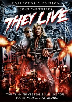 They Live Movie Poster 1988 John Carpenter Horror Movie Posters, Movie Poster Art, Poster S, Horror Movies, Horror Art, Sci Fi Movies, Scary Movies, Action Movies, Great Movies