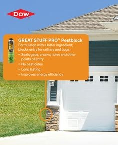 Don't just seal air in, seal bugs out! | greatstuff.dow.com | #closingthegap #GREATSTUFF #DIY