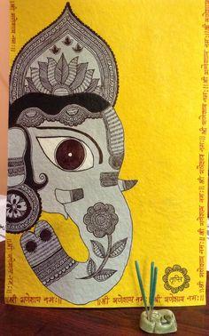 Shri Ganesh! Madhubani Ganesha by Tripti
