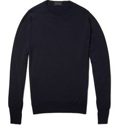 3180e81e3f5 John Smedley Hunter Crew Neck Merino Wool Sweater