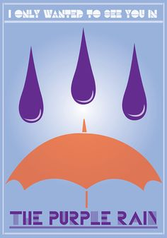 Purple Blue Orange Typography Rain Umbrella Art by perimelodi, $22.00
