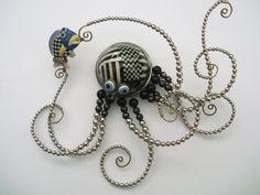 CYNTHIA CHUANG/ERH-PING TSAI OCTOPUS AND FISH NECKLACE (Cynthia Chuang and her husband, Erh-Ping Tsai, have graduate degrees in sculpture from the Parsons School of Design and they make the most amazingly bizarre pieces)