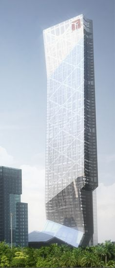 Hanking Center, Shenzhen, China by Thom Mayne of Morphosis Architects :: 65 floors, height 350m