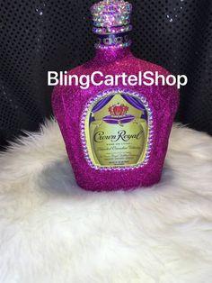 Bedazzled Liquor Bottles, Bling Bottles, Empty Bottles, Perfume Bottles, Glass Bottles, Alcohol Bottle Decorations, Liquor Bottle Crafts, Vodka Bottle, Decorated Alcohol Bottles