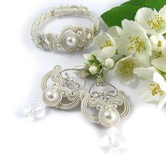 Wedding dress jewelry Bridal earrings bracelet set, hochzeit ohrringe, boucles d'oreilles mariage, pendientes de boda, orecchini di nozze