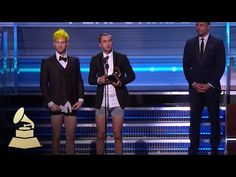 Twenty One Pilots Wins Best Pop Duo / Group Performance | Acceptance Speech | 59th GRAMMYs - YouTube