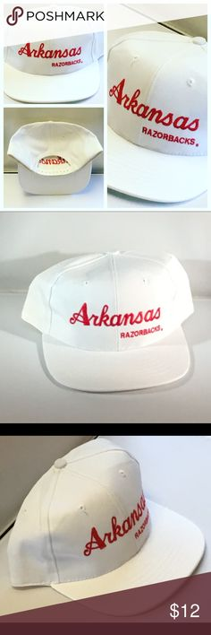 Arkansas Razorbacks Vintage Snapback Cap Hat NCAA NWOT Vintage Arkansas Razorbacks Snapback Cap/Hat SEC College-NCAA Accessories Hats