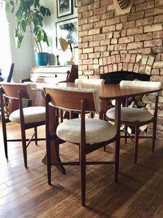 Retro Vintage Mid Century G Plan VB Wilkins Set of 4 Fresco Dining Chairs