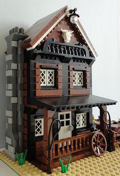 LEGO Moc Western The Kattle Ranch 004 | by Jotabeeeeeee