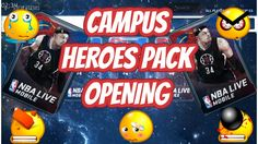 CAMPUS HEROES PACK OPENING - NBA LIVE MOBILE - WORST OPENING EVER!