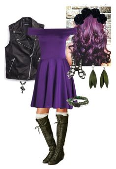 """""""Mal (Disney's Descendants)"""" by forget-me-notz ❤ liked on Polyvore"""