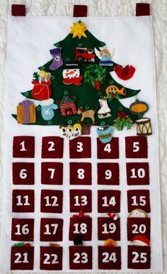 Felt Advent Calendar- completely handmade. $175.00, via Etsy.