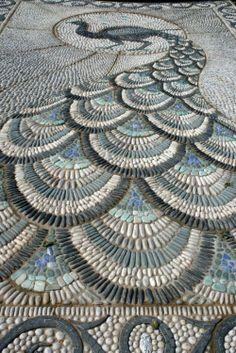 mosaic peacock - Não tenho palavras para esta perfeição.