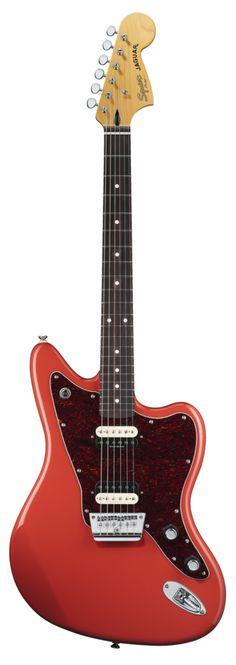 Squier by Fender Vintage Modified Jaguar HH, Fiesta Red Squier Guitars, Fender Squier, Fender Guitars, Bass Guitars, Electric Guitars, Music Guitar, Cool Guitar, Guitar Sketch, Musica Disco