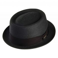 Bailey Hats Waits Pork Pie - Black