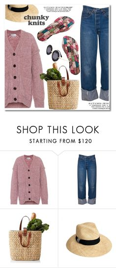 """""""Get Cozy: Chunky Knits"""" by paculi ❤ liked on Polyvore featuring Acne Studios, FlipFlops, chunkyknits and chosechic"""
