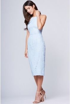 Yumi Kim Save The Date Lace Dress- Baby Blue