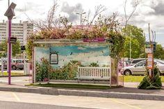 """Fred MesHumeursTan : Arrêt de bus """"floral"""" pour Pont Rousseau et Les Floralies"""