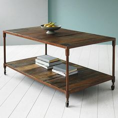 Our Reiner upcycled pipe coffee table is a combination of reclaimed hardwood and old metal pipework.The items in our Reiner range are designed with an industrial twist, based on using two natural products to create an outstanding design that is very modern and contemporary. The range has a naturally aged rustic industrial steel frame finish that by contrast complements the natural reclaimed wood with its natural grain and colouring, making each piece unique and individual.Handmade from ...