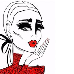 Blow kiss  #illustration #redlips #lace #valentino #gown #fashion #fashionillustration #drawing #sketch #art #artist #artfashion #red #beauty #csteien #blowkiss @maisonvalentino