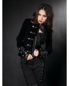 Fashion Black Gothic Jacket for Women