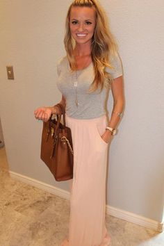 High Wasted Light Pink Maxi Skirt - Peace Love and Royalty Boutique
