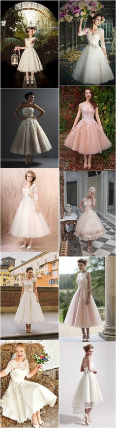 Top 40 Most Loved Tea Length Wedding Dresses