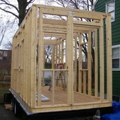 building tiny shirley loomis 0017 600x601   Building a Mortgage free Tiny House by the Seat of My Pants