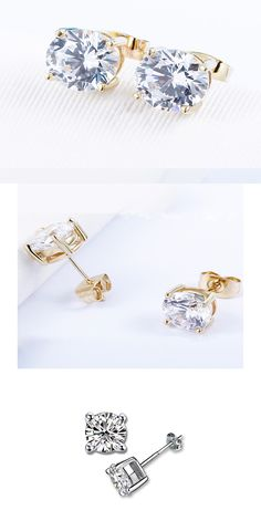 c4cc8d8f4 Simple Stud Earrings with CZ Best gift for Mother's Day. Link: https:/