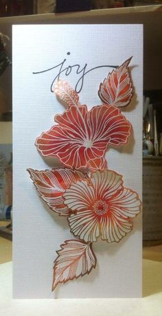 By Amanda Branston using Designs by Ryn: Hibiscus stamps