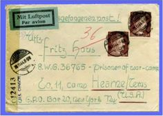 Prisoner mail at Camp Hearne. Mail for all German prisoners in the United States was sorted at the camp