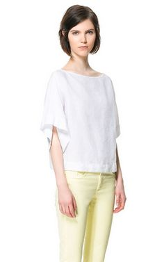 KIMONO SLEEVE TOP - Tops - Woman - ZARA United States