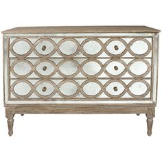 Oval Mirrored Chest featuring polyvore home furniture storage & shelves dressers drawer furniture mirrored glass dresser 3 drawer dressers three drawer dresser mirrored glass furniture