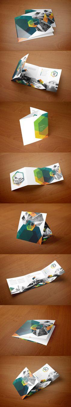 Square Real Estate Hexo Trifold by Abra Design, via Behance