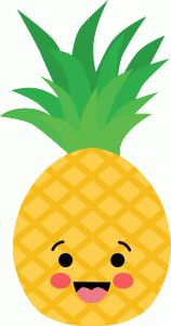 Cute Pineapples Clipart Set - pineapple clip art, fun ...