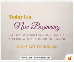 Today is a New Beginning ! Make It Awesome !  HaroldKurtOnline.com