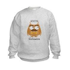 Hootin Owl 4k Sweatshirt - kids crew neck sweatshirt - halloween