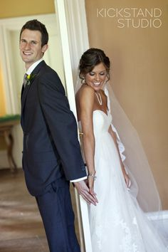 Oh I love this idea! A cute pic of before the groom and bride see each other :)