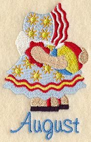 ** Sunbonnet Sue - August Block Of The Month Pattern Used As Applique Quilt @emlibrary