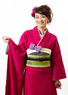 Kimono  着物 無地長袖