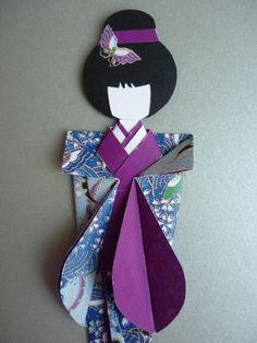 O Mundo da Lena: Origami - Japanese Oriental Geisha Origami Dragon, Origami Fish, Origami Folding, Paper Folding, Japanese Origami, Japanese Paper, Kirigami, Asian Crafts, Asian Quilts