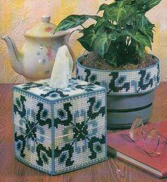 DUTCH TREAT TISSUE BOX COVER PLASTIC CANVAS PATTERN INSTRUCTIONS…