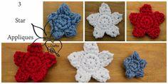 MNE Crafts: 3 Star Applique Patterns