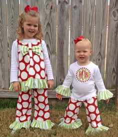 Sister Christmas outfits from Lila & G! Ahh! I want for the girls!