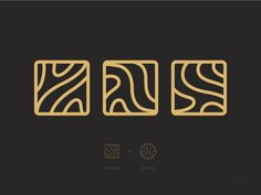 Wood and Wave designed by HK. Connect with them on Dribbble; Typography Logo, Logo Branding, Branding Design, Logo Design, Graphic Design Posters, Graphic Design Illustration, Olive Oil Packaging, Wood Logo, Brand Assets