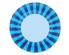 Blue Stripe Paper Plates