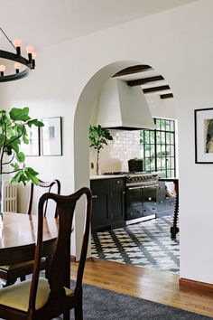 Kitchen Ideas - Arched Doorway Into Kitchen - Archway - Jessica Helgerson Interior Design - Click through for 8 showstopping elements for a kitchen design!