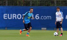 """Federico Bernardeschi of Italy in action during the training session at """"Bernard Gasset"""" Training Center on June 10, 2016 in Montpellier, France."""