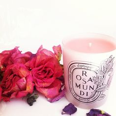 navkbrar: Rose Diptyque candle and roses..