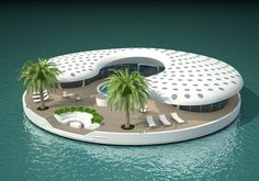 'Ome floating island homes for Dubai's The World